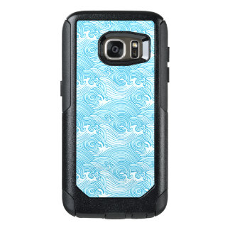 Japanese Waves Pattern in Ocean Colors OtterBox Samsung Galaxy S7 Case