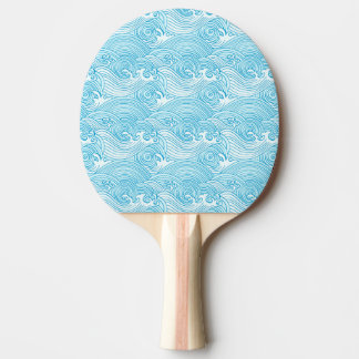 Japanese Waves Pattern in Ocean Colors Ping Pong Paddle