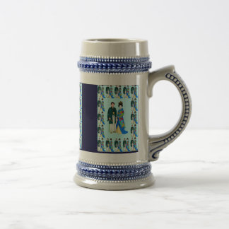 Japanese wedding couple - wedding day,mug beer stein