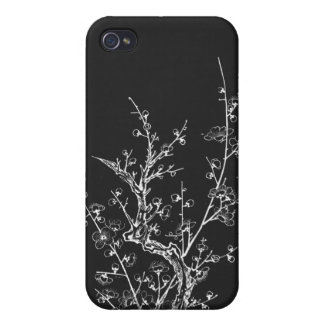Japanese Wild Blossoms Inverted Black iPhone 4 Case
