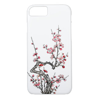 Japanese Wild Plum Petals iPhone 7 Case