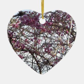 Japanese Willow Ceramic Heart Decoration