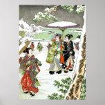 Japanese Winter Scene Poster