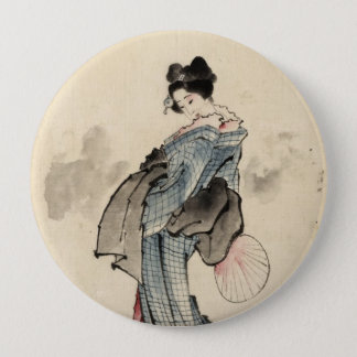 Japanese woman Button
