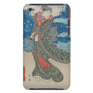 Japanese woman by the sea (colour woodblock print) barely there iPod cover