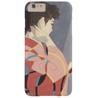 Japanese Woman in Kimono Holding A Hand Mirror Barely There iPhone 6 Plus Case