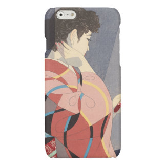 Japanese Woman in Kimono Holding A Hand Mirror iPhone 6 Plus Case