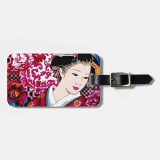 Japanese Woman in Kimono Luggage Tags