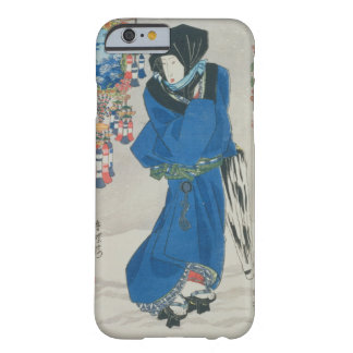 Japanese Woman in the Snow (colour woodblock Barely There iPhone 6 Case