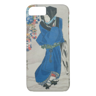 Japanese Woman in the Snow (colour woodblock iPhone 7 Case