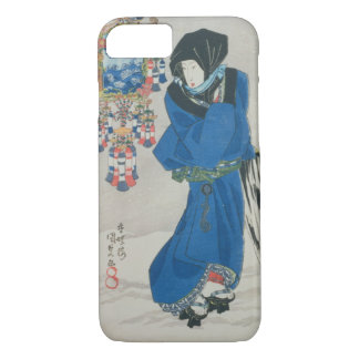 Japanese Woman in the Snow (colour woodblock iPhone 8/7 Case