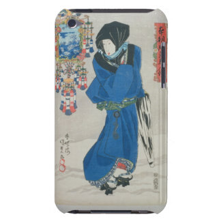 Japanese Woman in the Snow (colour woodblock print Barely There iPod Cases