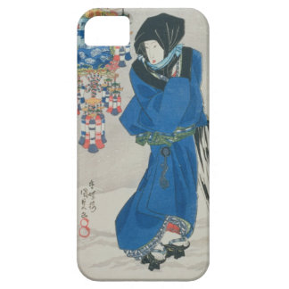 Japanese Woman in the Snow (colour woodblock print iPhone 5/5S Cases