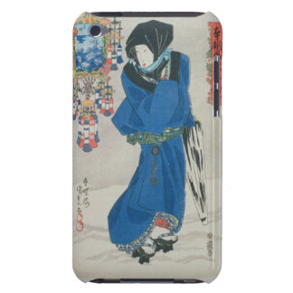 Japanese Woman in the Snow colour woodblock print Barely There iPod Case