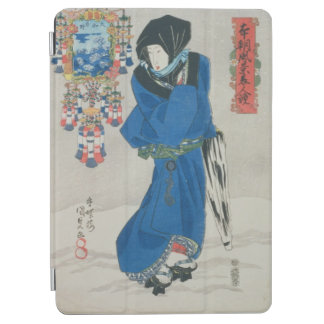 Japanese Woman in the Snow (colour woodblock print iPad Air Cover