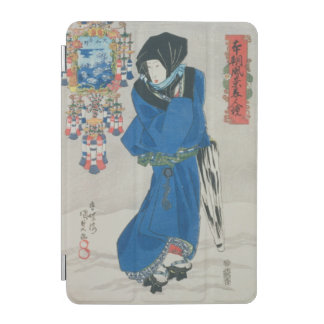 Japanese Woman in the Snow (colour woodblock print iPad Mini Cover