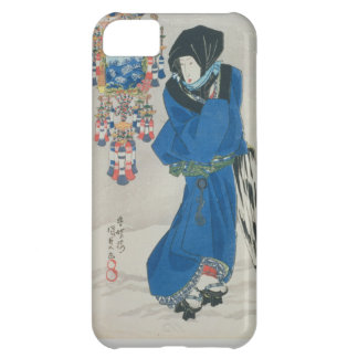 Japanese Woman in the Snow (colour woodblock print iPhone 5C Case