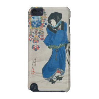 Japanese Woman in the Snow (colour woodblock print iPod Touch (5th Generation) Covers