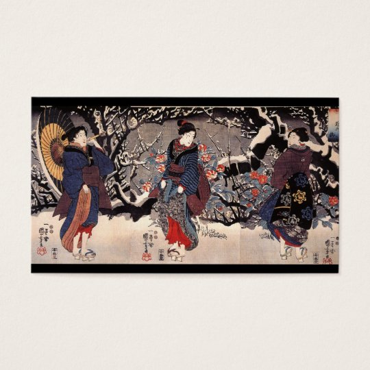 Japanese Women in the Snow  c. 1800s