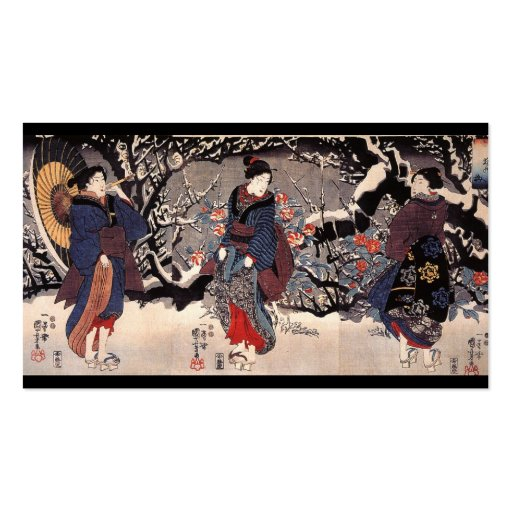 Japanese Women in the Snow  c. 1800s Pack Of Standard Business Cards