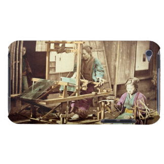 Japanese women weaving, c.1890 (hand-coloured phot barely there iPod covers
