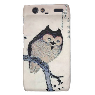 Japanese Woodblock Art Owl Print Droid RAZR Covers