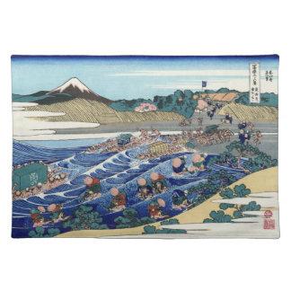 Japanese Woodblock: Fuj from Kanaya on Tokaido Placemat