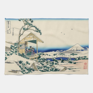 Japanese Woodblock: Tea House at Koishikawa Tea Towel