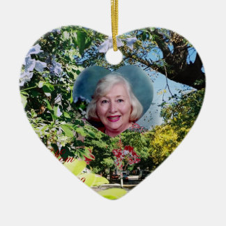 JAPAN'S EARTHQUAKE RELIEF Double-Sided HEART CERAMIC CHRISTMAS ORNAMENT
