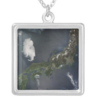 Japan's main island, Honshu Silver Plated Necklace