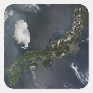 Japan's main island, Honshu Square Sticker