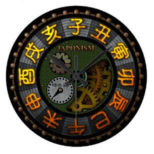 japonism large clock