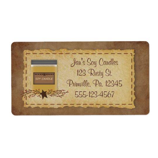 Jar Candle Business Label