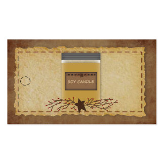 Jar Candle Hang Tag Pack Of Standard Business Cards