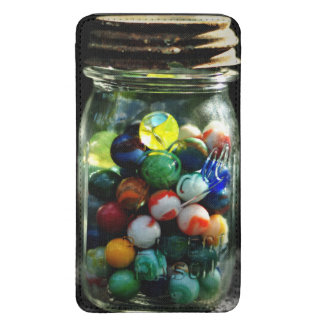 Jar Full of Sunshine and Glass Marbles