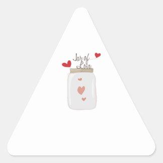 Jar of Love Triangle Sticker