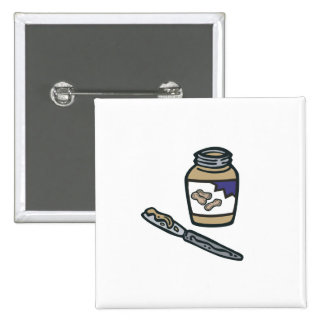 jar of peanut butter 15 cm square badge