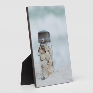 Jar Of Seashells On The Beach | Florida Plaques