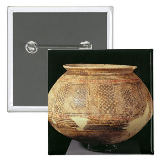 Jar with geometric decoration in the Halaf style, Button