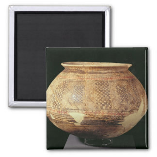 Jar with geometric decoration in the Halaf style, Square Magnet