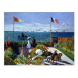 Jardin à Sainte-Adresse by Claude Monet Postcard
