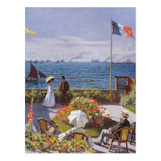 Jardin a Sainte-Adresse by Claude Monet Postcard