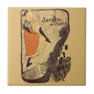 Jardin de Paris - Toulouse-Lautrec Small Square Tile