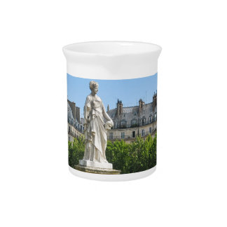 Jardin des Tuileries in Paris, France Beverage Pitcher