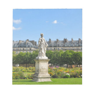 Jardin des Tuileries in Paris, France Notepad