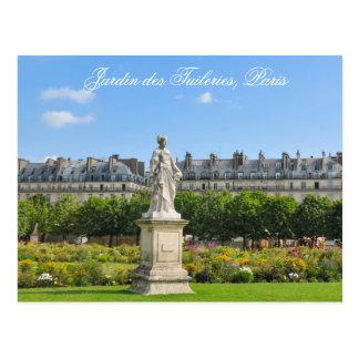 Jardin des Tuileries in Paris, France Postcard