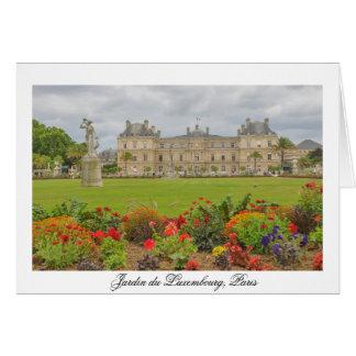 Jardin du Luxembourg Card