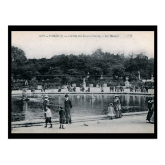 Jardin du Luxembourg, Paris, France Vintage Post Card