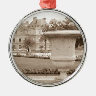 Jardin du Luxembourg, vintage Paris Christmas Ornament