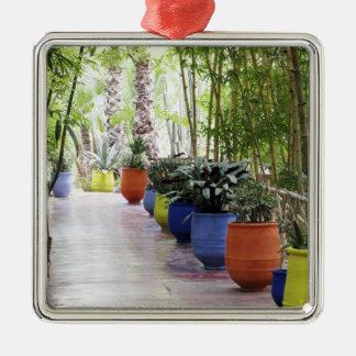 Jardin Majorelle, Majorelle Garden, now a public Silver-Colored Square Decoration